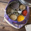 'Indian Kitchen' by Maunika Gowardhan & Spice Tin, 10 Spices & Handmade Silk Sari Wrap
